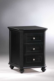 Homelegance 8891BK-A3 Hanna 3 Drawer Cabinet Black