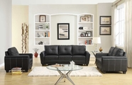 Homelegance 9701BLK-2-3 Dwyer Sofa Set-Black Bi-Cast