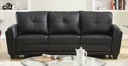 Homelegance 9701BLK-3 Black PU Sofa (RTA)
