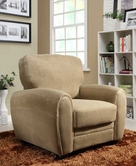 Homelegance 9734BR-1 CHAIR, BROWN PLUSH