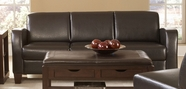 Homelegance 9915PU-3 DARK BROWN VINYL TRACK ARM SOFA