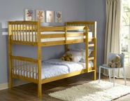 Homelegance B27-1-2-SL Todd Twin Bunk Bed In Pine Finish