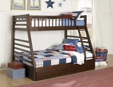Homelegance B33FE-1 Dreamland Twin Full Bunk Bed With Storage Drawers