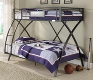 Homelegance B813TF-1 Spaced Out Twin Full Bunk Bed