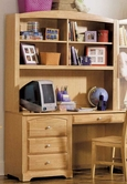 Homelegance Truckee Desk with Hutch-Maple 827-10-11