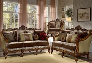 Homey Design HD-9668-CHERRY-S+L SOFA AND LOVESEAT
