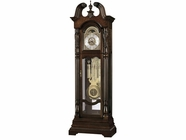 Howard Miller 611046 LINDSEY AMBASSADOR Cherry Bordeaux Floor Clock