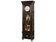 Howard Miller 611162 CRAWFORD Worn Black Floor Clock