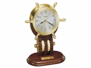 Howard Miller 613467 BRITANNIA Polished Brass Table Top Clock