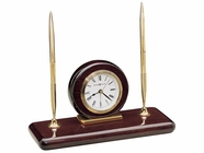 Howard Miller 613588 ROSEWOOD DESK Rosewood Table Top Clock