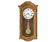 Howard Miller 620222 LAMBOURN II Golden Oak Wall Clock
