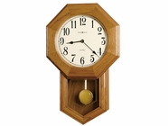 Howard Miller 625242 ELLIOTT Golden Oak Wall Clock