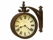 Howard Miller 625317 O'BRIEN ANTQ BRASS DBL SIDE Wall Clock