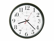 "Howard Miller 625323 ALTON 14"" DIA. BLACK Plastic Wall Clock"