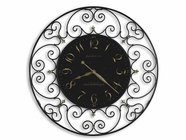 Howard Miller 625367 JOLINE WRT IRON BLACK Wall Clock