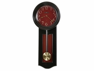 Howard Miller 625390 ALEXI BLACK W/RED INSET Worn Black (Red Undertone Wall Clock