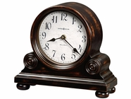 Howard Miller 635150 MURRAY 82ND Anniversary Worn Black (Brown Underto Mantel Clock