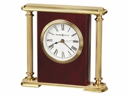 Howard Miller 645104 ROSEWOOD ENCORE BRKT Rosewood Table Top Clock