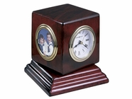 Howard Miller 645408 REUBEN Rosewood Table Top Clock