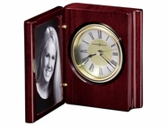 Howard Miller 645497 PORTRAIT BOOK Rosewood Table Top Clock