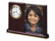 Howard Miller 645498 PORTRAIT CADDY Rosewood Table Top Clock