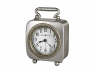 Howard Miller 645615 KEGAN ANTQ PEWTER ALARM Table Top Clock