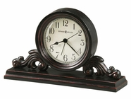 Howard Miller 645653 BISHOP Worn Black (Red Undertone Table Top Clock