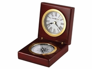 Howard Miller 645730 PURSUIT Rosewood Table Top Clock