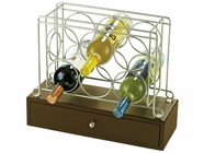 Howard Miller 655148 WINE CADDY I SATIN NICKEL