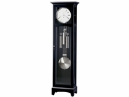 Howard Miller 660125 URBAN III FLOOR CLO Black Satin Floor Clock
