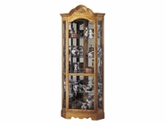 Howard Miller 680207 WILSHIRE Golden Oak Collectors Cabinet-Floor
