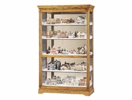 Howard Miller 680237 PARKVIEW Golden Oak Collectors Cabinet-Floor