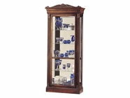 Howard Miller 680243 EMBASSY Embassy Cherry Collectors Cabinet-Floor
