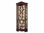 Howard Miller 680249 JAMESTOWN Windsor Cherry Collectors Cabinet-Floor