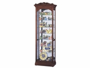 Howard Miller 680342 HASTINGS Windsor Cherry Collectors Cabinet-Floor
