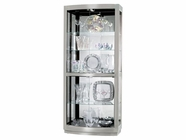 Howard Miller 680396 BRADINGTON II Nickel Collectors Cabinet-Floor