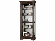 Howard Miller 680420 RICARDO CH 2 WAY SLIDER Hampton Cherry Collectors Cabinet-Floor