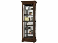 Howard Miller 680469 MARTINDALE 2 WAY SLIDER CH Cherry Bordeaux Collectors Cabinet-Floor