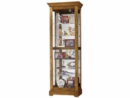 Howard Miller 680471 MOORLAND 2-WAY SLIDER OAK Legacy Oak Collectors Cabinet-Floor