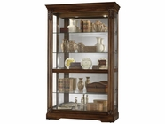 Howard Miller 680473 RAMSDELL Tuscany Cherry Collectors Cabinet-Floor