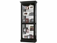 Howard Miller 680477 BERENDS 2-WAY SLIDER W/MIR Black Satin Collectors Cabinet-Floor