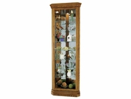 Howard Miller 680485 DOMINIC Legacy Oak Collectors Cabinet-Floor