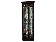 Howard Miller 680487 DUANE Black Satin Collectors Cabinet-Floor