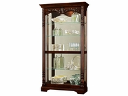 Howard Miller 680497 FELICIA Rustic Cherry Collectors Cabinet-Floor