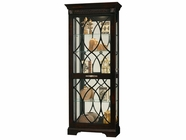 Howard Miller 680499 ROSLYN Worn Black Collectors Cabinet-Floor