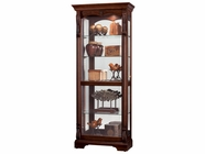 Howard Miller 680501 BERNADETTE Hampton Cherry Collectors Cabinet-Floor