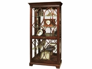 Howard Miller 680509 RICHLAND Tuscany Cherry Collectors Cabinet-Floor