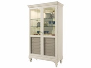 Howard Miller 680511 HAMPSHIRE Antique Vanilla Collectors Cabinet-Floor