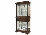 Howard Miller 680513 PLANTATION Hampton Cherry Collectors Cabinet-Floor
