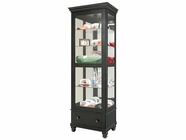 Howard Miller 680517 DAYTON Worn Black Collectors Cabinet-Floor